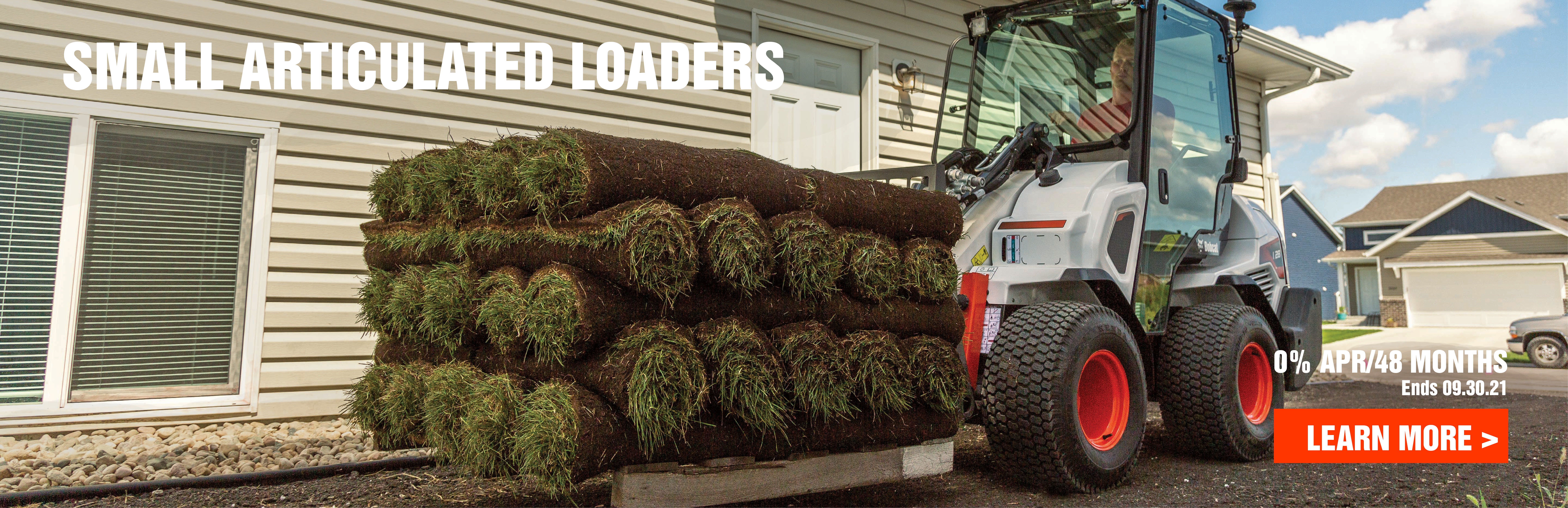 Get 0% financing on Bobcat small articulated loaders